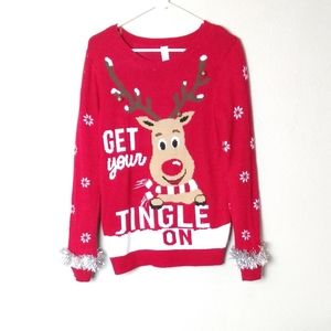 Rudolph The Reindeer Ugly Christmas Sweater